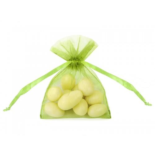 Woreczki z organzy - zielone jabłuszko (20 sztuk)