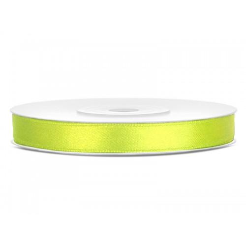 Tasiemka satynowa - neonowo zielona