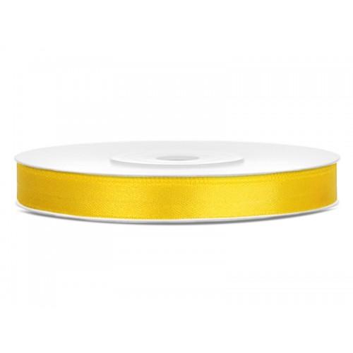 Tasiemka satynowa - żółta
