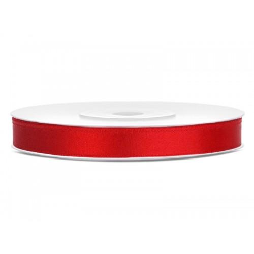 Tasiemka satynowa - czerwona