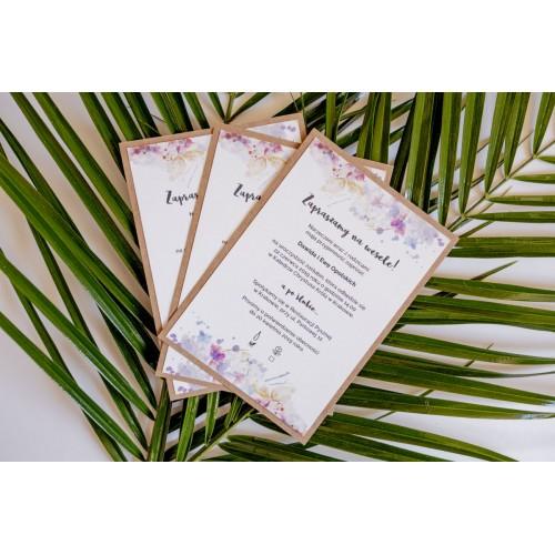Zaproszenie ślubne - Rustic Flowers