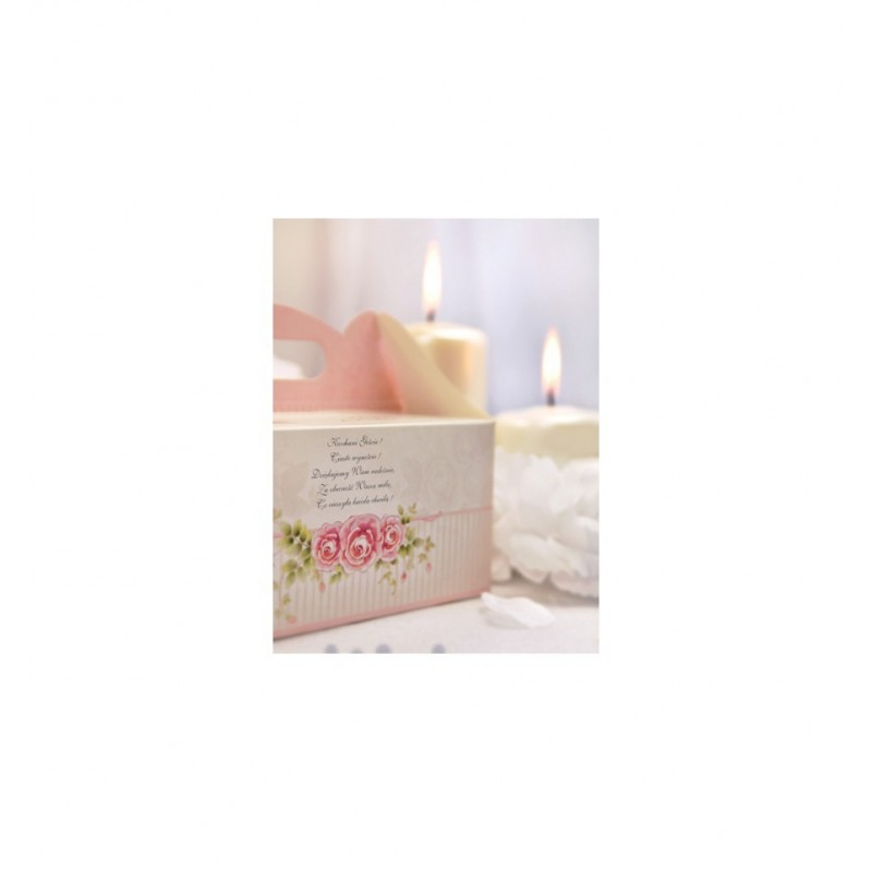 Różowe pudełka na ciasto (10 sztuk)