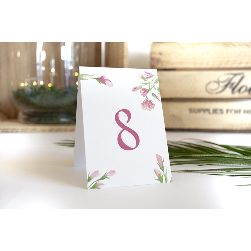 Numer stolika - Floral