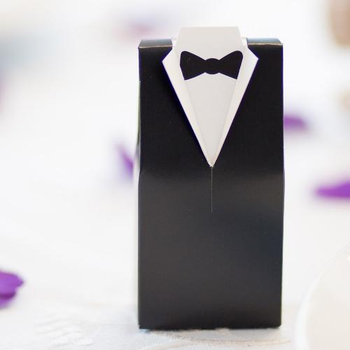 Pudełeczka dla gości - frak (10 sztuk)