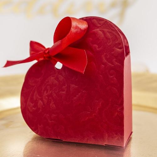 Pudełeczka dla gości - czerwone serce (10 sztuk)