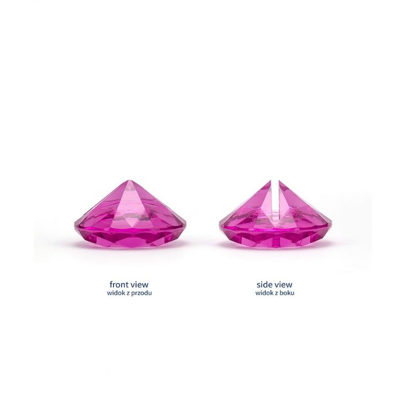 Stojak na wizytówki/winietki - mocny, różowy diament (10 sztuk)