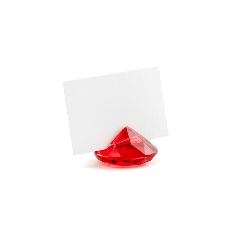 Stojak na wizytówki/winietki - czerwony diament (10 sztuk)