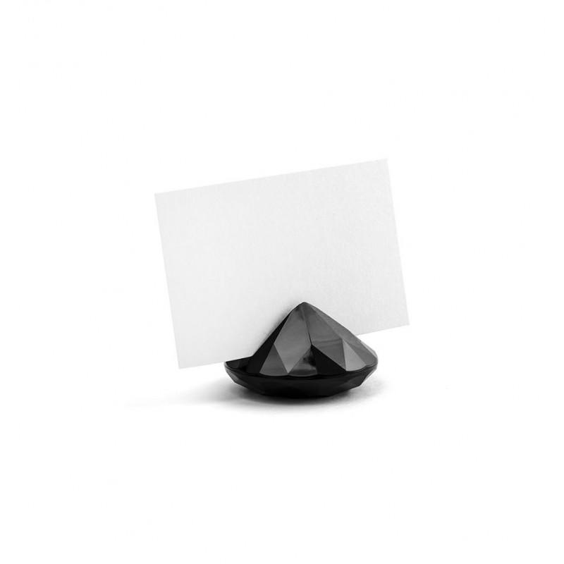 Stojak na wizytówki/winietki - czarny diament (10 sztuk)