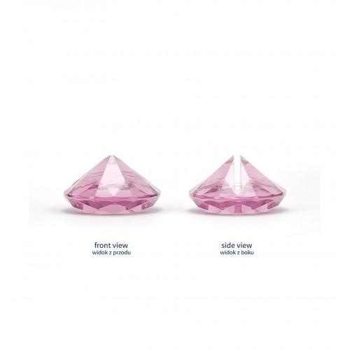 Stojak na wizytówki/winietki - różowy diament (10 sztuk)