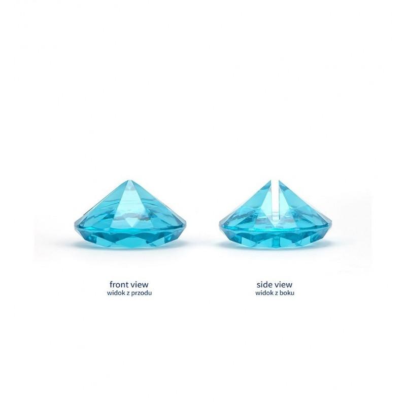 Stojak na wizytówki/winietki - turkusowy diament (10 sztuk)
