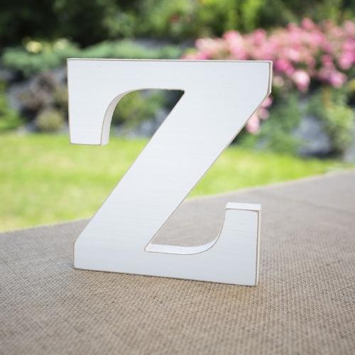 """Drewniana literka """"Z"""" - biała"""