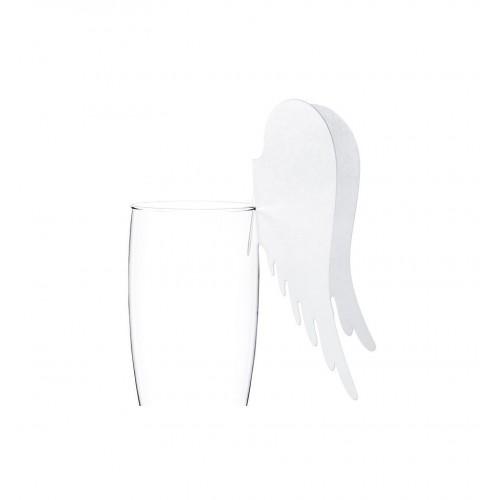 Winietki w kształcie skrzydeł anioła zakładane na kieliszek (10 sztuk)