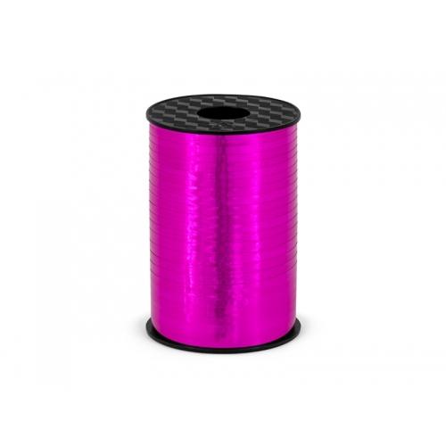 Wstążka do balonów 225 m - ciemno różowy metalizowany