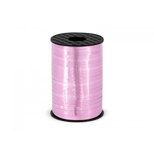 Wstążka do balonów 225 m - różowy metalizowany