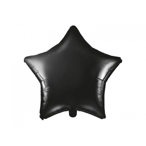 Czarny balon foliowy - gwiazdka