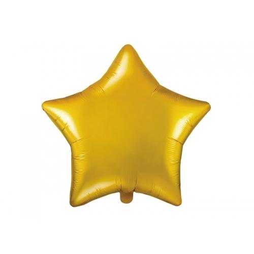 Złoty balon foliowy - gwiazdka