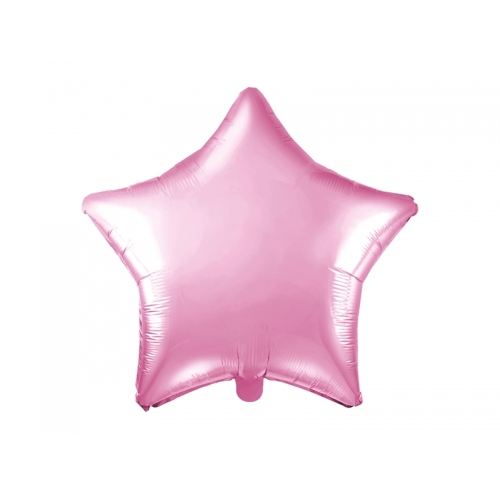 Jasnoróżowy balon foliowy - gwiazdka