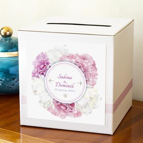Pudełko na koperty - Perłowe Piwonie