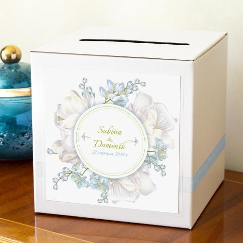 Pudełko na koperty - Perłowe Konwalie