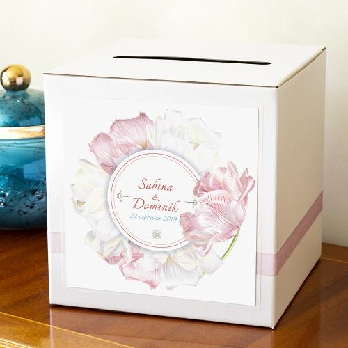 Pudełko na koperty - Magiczne tulipany