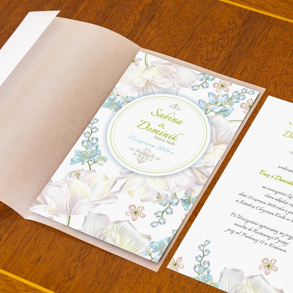 Zaproszenie ślubne Perłowe Konwalie Weddingstorepl