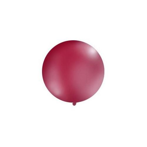 Burgundowy, pastelowy mega balon o średnicy 1 metra