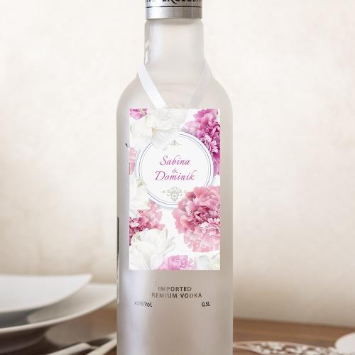 Ozdoba alkoholu - Piwonie