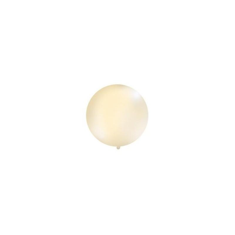Kremowy, pastelowy mega balon o średnicy 1 metra