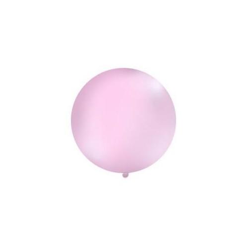 Różowy, pastelowy mega balon o średnicy 1 metra