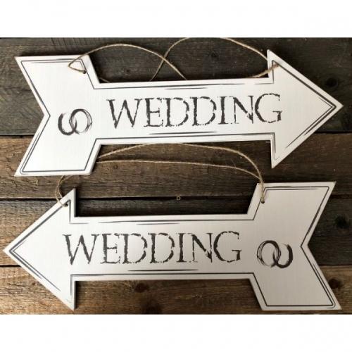 """Drogowskaz na wesele - """"Wedding"""""""