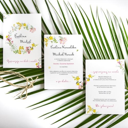 Zaproszenie ślubne - Floral II