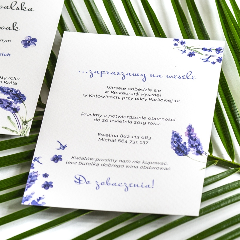 Zaproszenie ślubne - Floral III
