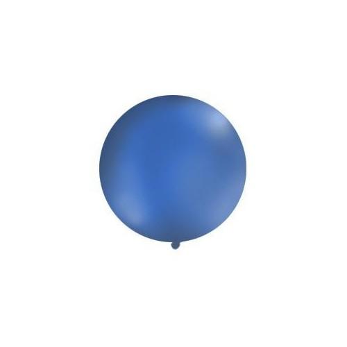 Granatowy, pastelowy mega balon o średnicy 1 metra