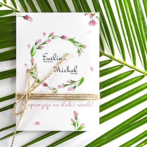 Zaproszenie ślubne - Floral I