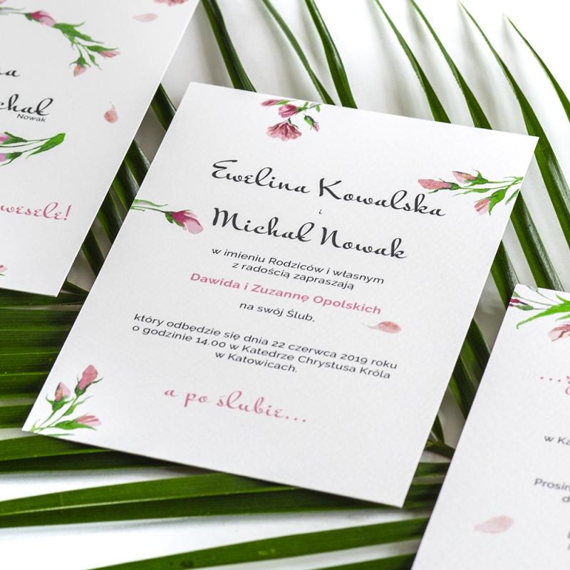 Zaproszenie ślubne - Floral