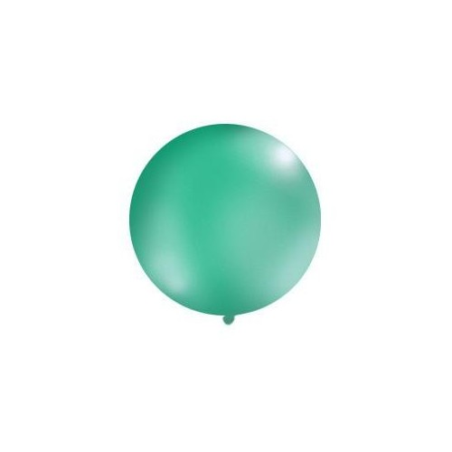 Jasnoszmaragdowy, pastelowy mega balon o średnicy 1 metra