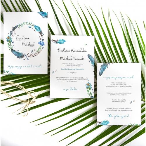 Zaproszenie ślubne - Floral IV