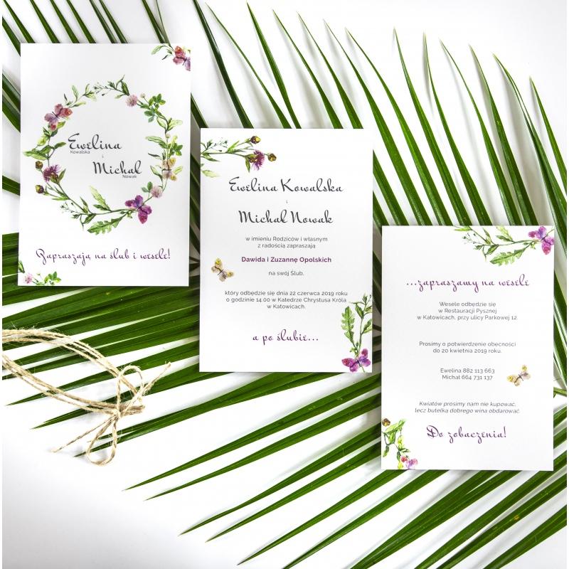 Zaproszenie ślubne - Floral V