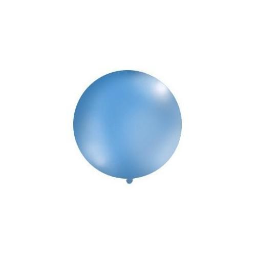 Niebieski, pastelowy mega balon o średnicy 1 metra