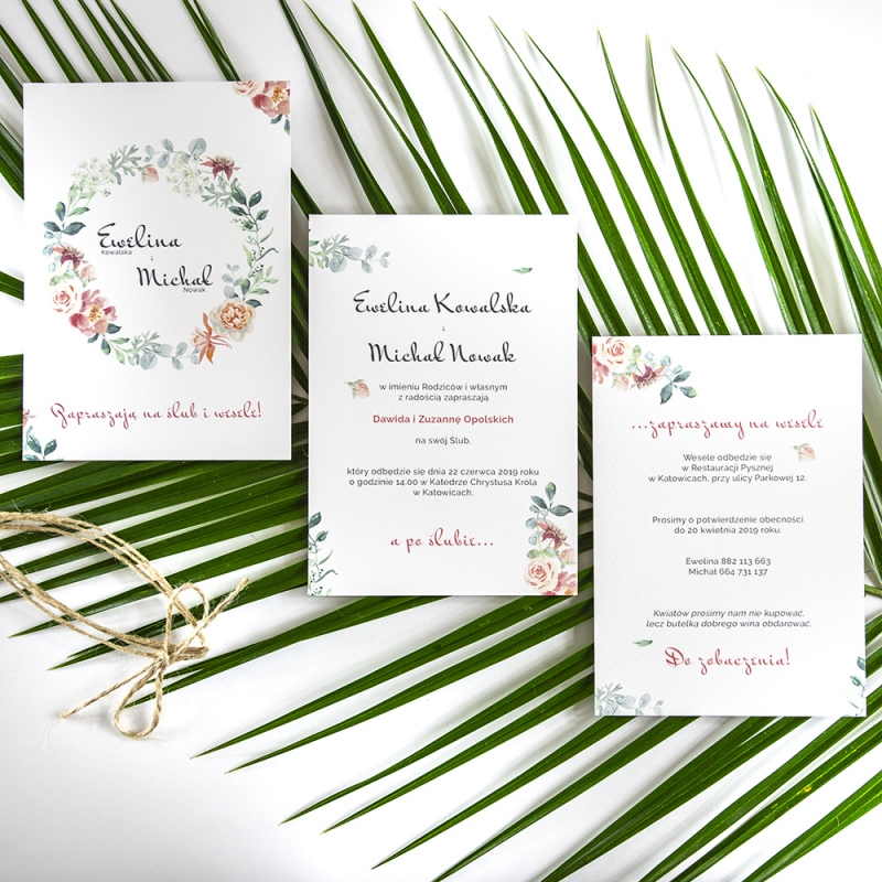 Zaproszenie ślubne - Floral VI