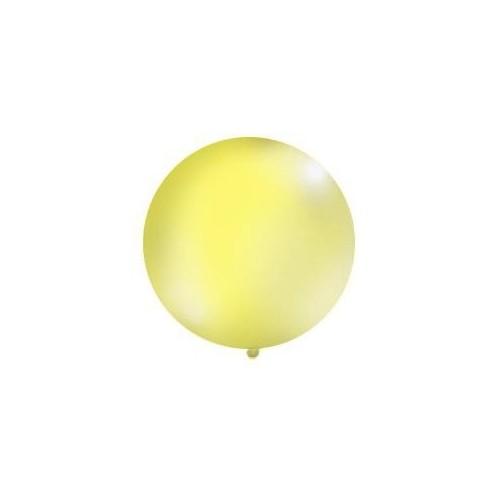 Żółty, pastelowy mega balon o średnicy 1 metra