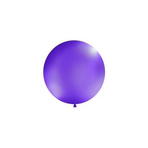 Fioletowy, pastelowy mega balon o średnicy 1 metra