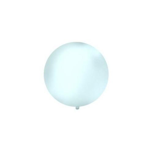 Przezroczysty, pastelowy mega balon o średnicy 1 metra