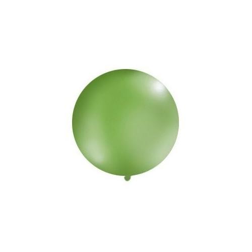 Zielony, pastelowy mega balon o średnicy 1 metra