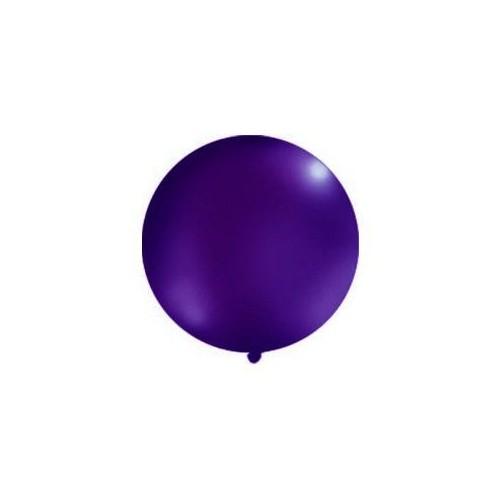 Ciemnofioletowy, pastelowy mega balon o średnicy 1 metra