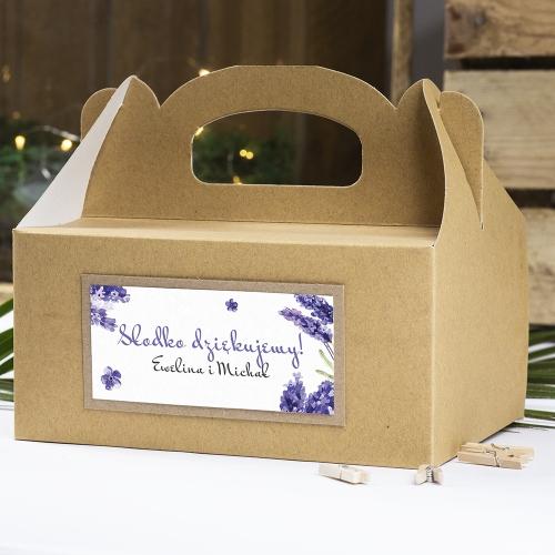 Pudełko na ciasto z papieru czerpanego - Floral III