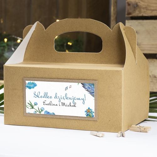 Pudełko na ciasto z papieru czerpanego - Floral IV