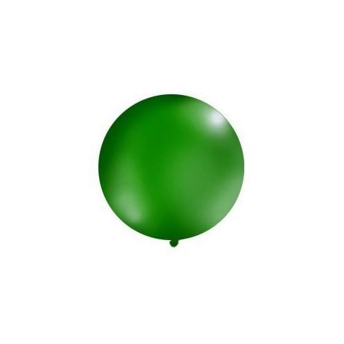 Ciemnozielony, pastelowy mega balon o średnicy 1 metra