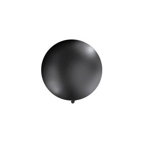 Czarny, pastelowy mega balon o średnicy 1 metra