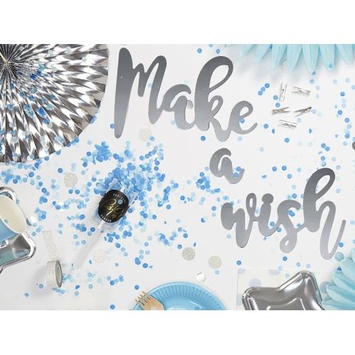 Push pop konfetti, mix niebiesko-miętowy